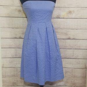 J. Crew Lorelei Deco Dot Dress Blue Size 6